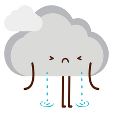 Cute Crying Cloud Sticker