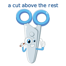 Scissors - A Cut Above the Rest Sticker