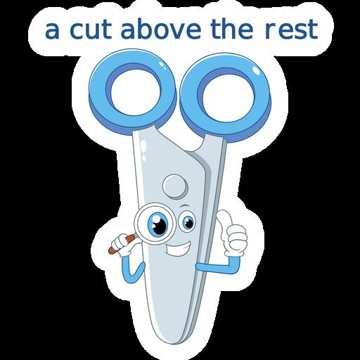Scissors - A Cut Above the Rest Sticker