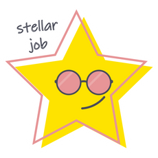 Star - Stellar Job Sticker