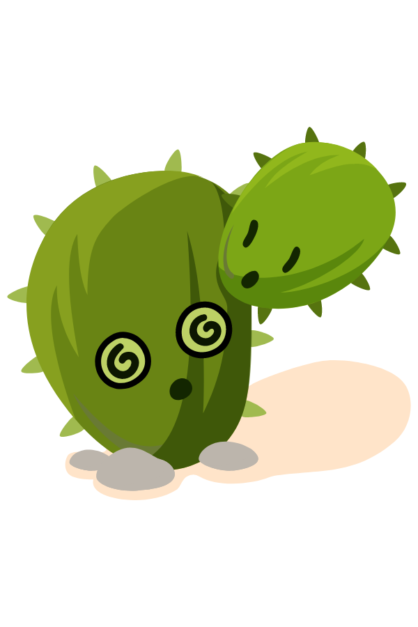 Two-Headed Cactus Sticker