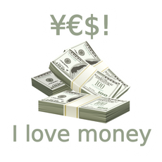 Yes! I Love Money Sticker