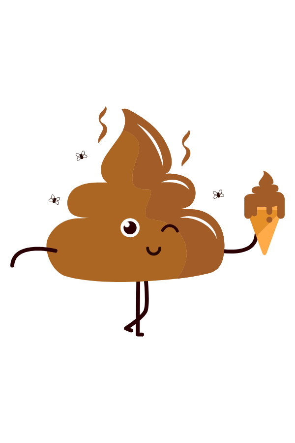 Poop with Ice Cream Sticker