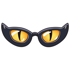 Funny Glasses with Cat Eyes Sticker