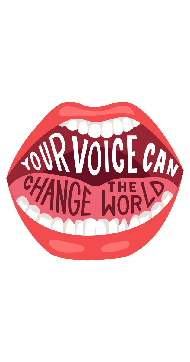 Your Voice Can Change the World Sticker