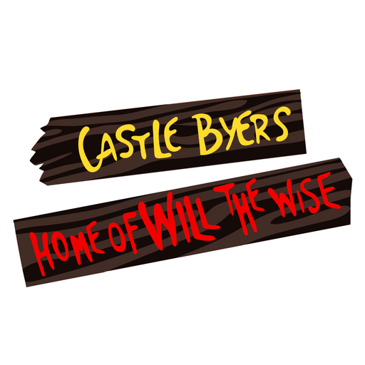 Stranger Things Castle Byers Sticker