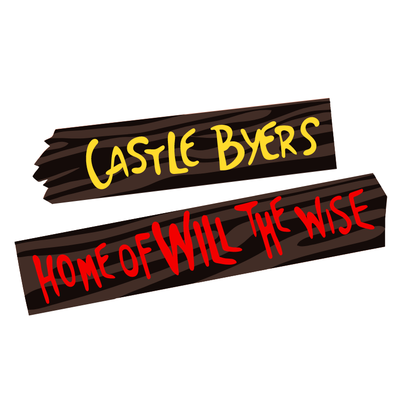 Stranger Things Castle Byers Sticker