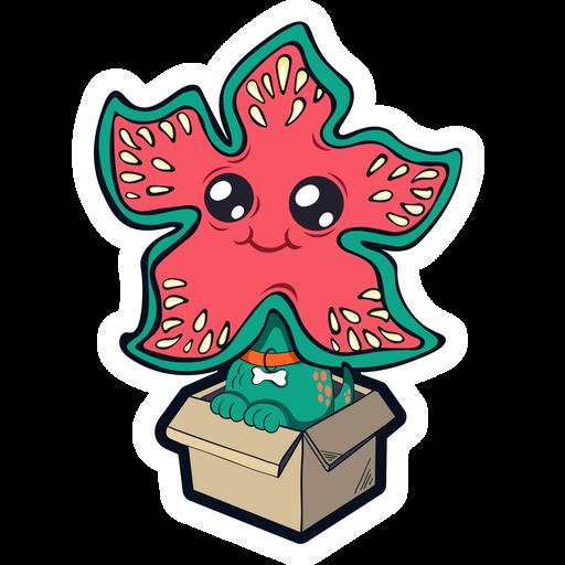 Stranger Things Demodog in Box Sticker