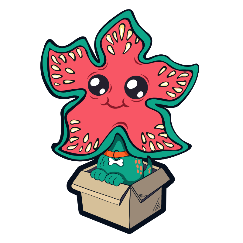 Stranger Things Demodog in Box Sticker