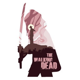 The Walking Dead Michonne Silhouette Sticker