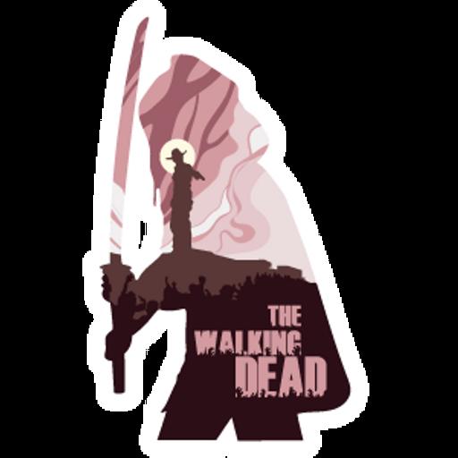 The Walking Dead Michonne Silhouette Sticker