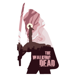 The Walking Dead Michonne Silhouette