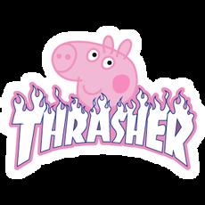 Thrasher Peppa Pig Sticker