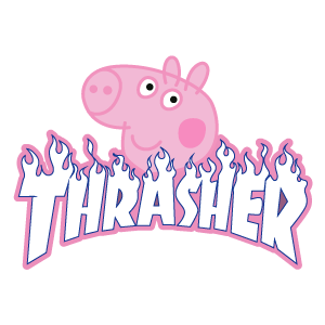 Thrasher Peppa Pig Sticker