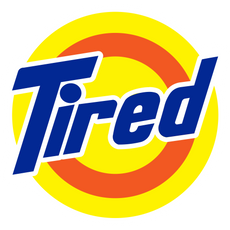 Tired Tide Logo Sticker