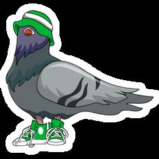 Tough Pigeon on the Block Sticker