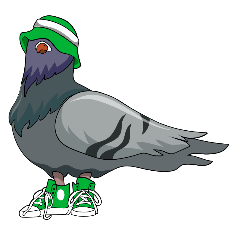 Tough Pigeon on the Block Sticker