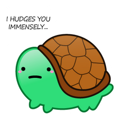 Turtle I Hudges you Immensely Sticker