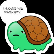 Turtle I Hudges you Immensely Sticker