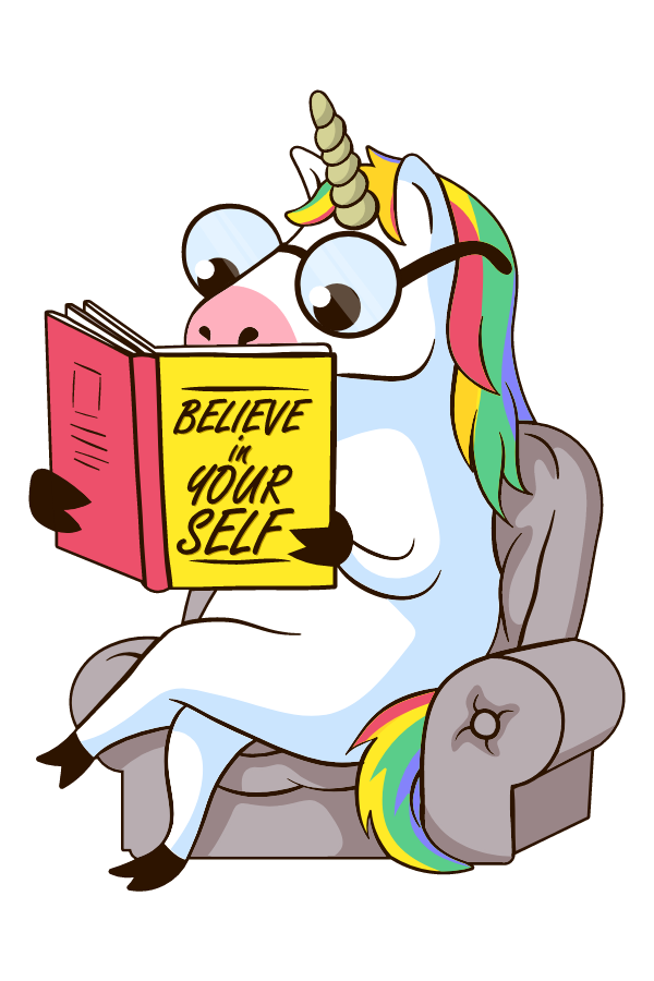 Unicorn Believe in Yourself Book Sticker