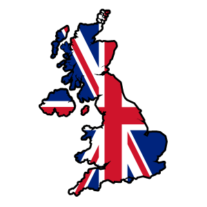 cool and cute United Kingdom Country Flag Sticker for stickermania