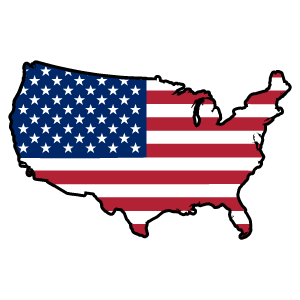cool and cute United States of America Country Flag Sticker for stickermania