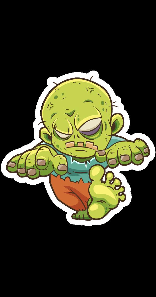 Walking Cartoon Zombie Sticker
