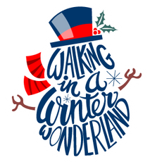 Walking in a Winter Wonderland Snowman Sticker