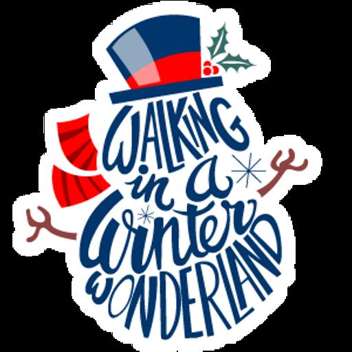 Walking in a Winter Wonderland Snowman Sticker