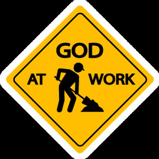 Warning Sing God at Work Sticker