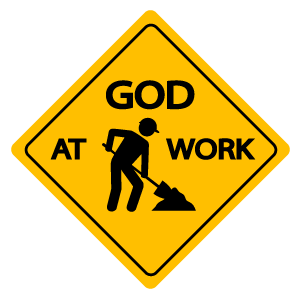 Warning Sing God at Work