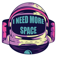 Astronaut I Need More Space Sticker
