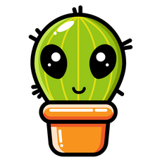 Cute Alien Cactus Sticker