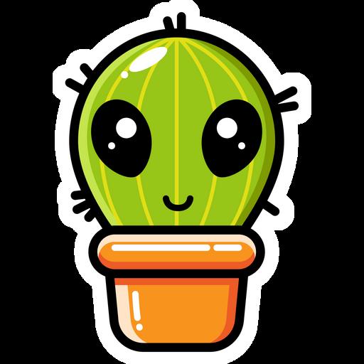 Cute Alien Cactus Sticker