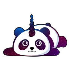 Pandicorn Space Sticker