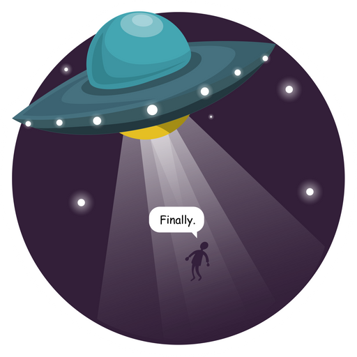The Long-Awaited UFO Abduction Sticker