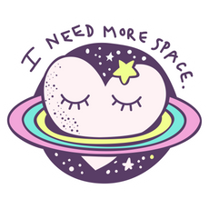 Cute Planet I Need More Space Sticker