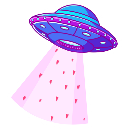 Friendly UFO Sticker