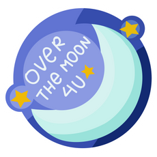 Over the Moon 4U Sticker
