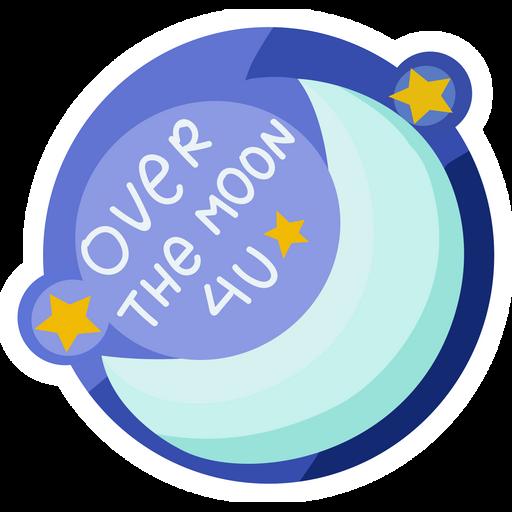 Over the Moon 4U Sticker