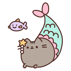 Mermaid Pusheen Sticker