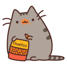 Pusheen and Cheetos