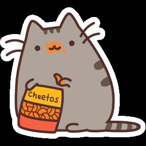 Pusheen and Cheetos
