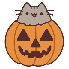 Pusheen Jack-o-Lantern Sticker
