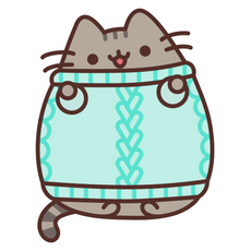 Pusheen in Knitted Sweater Sticker