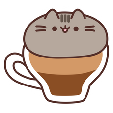 Pusheen Meowchiato Sticker