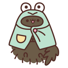 Pusheen Pip Frog Sticker
