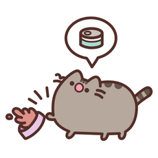 Pusheen Send It Back Sticker