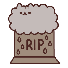 Pusheen Stormy on the Grave