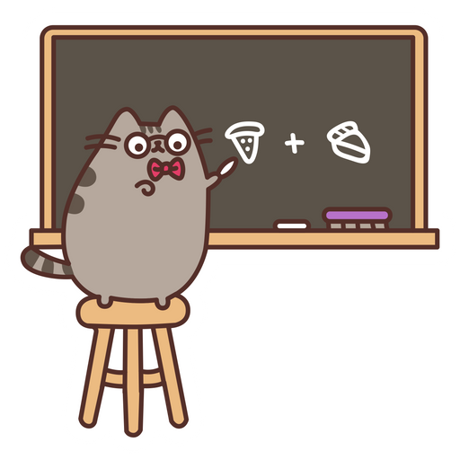 Pusheen Teacher Sticker